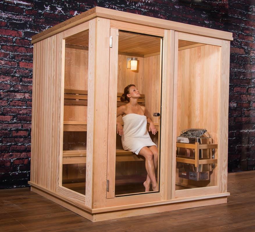 saunas de cabina para interior almost heaven saunas. Black Bedroom Furniture Sets. Home Design Ideas